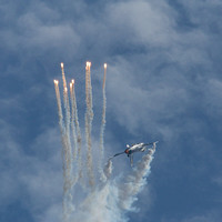 Belgian Air Component F16 flares